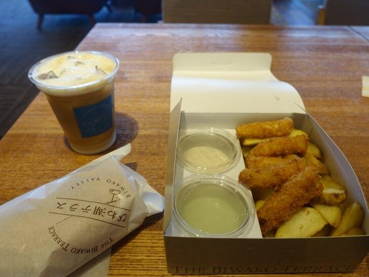びわ湖テラスで注文した食事を撮影した撮影した写真
