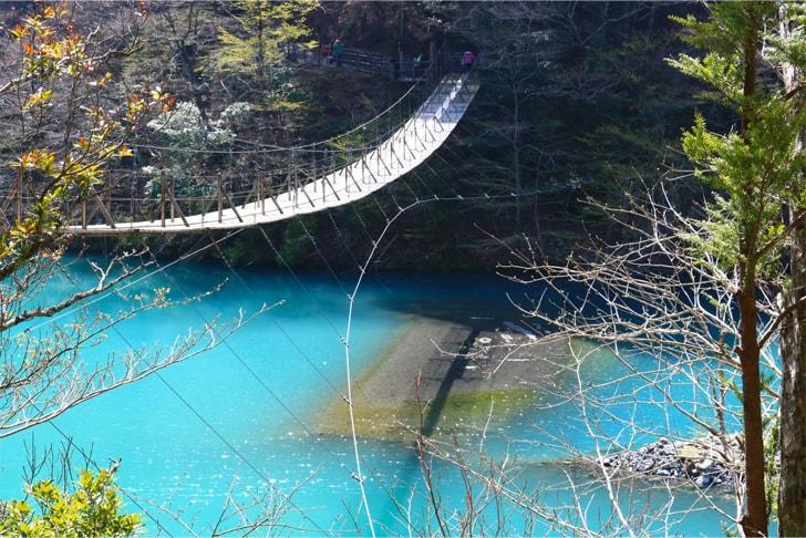 夢の釣り橋の写真