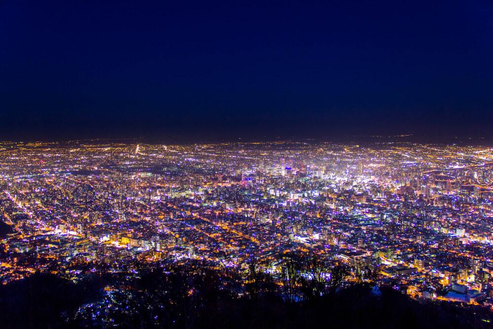 藻岩山からの夜景の写真