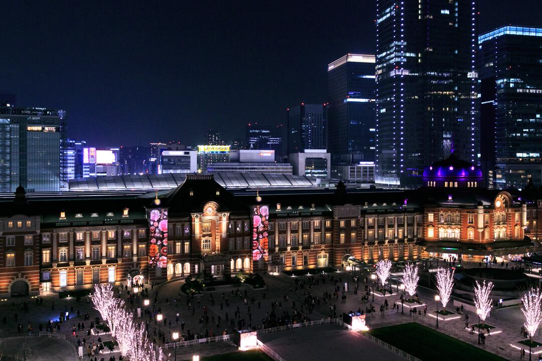 新丸ビルから撮影した東京ミチテラスの様子