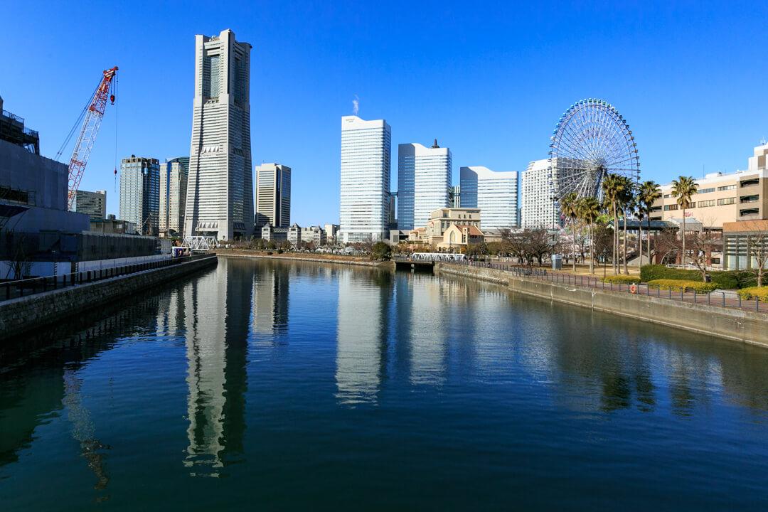万国橋から撮影した横浜ランドマークタワー