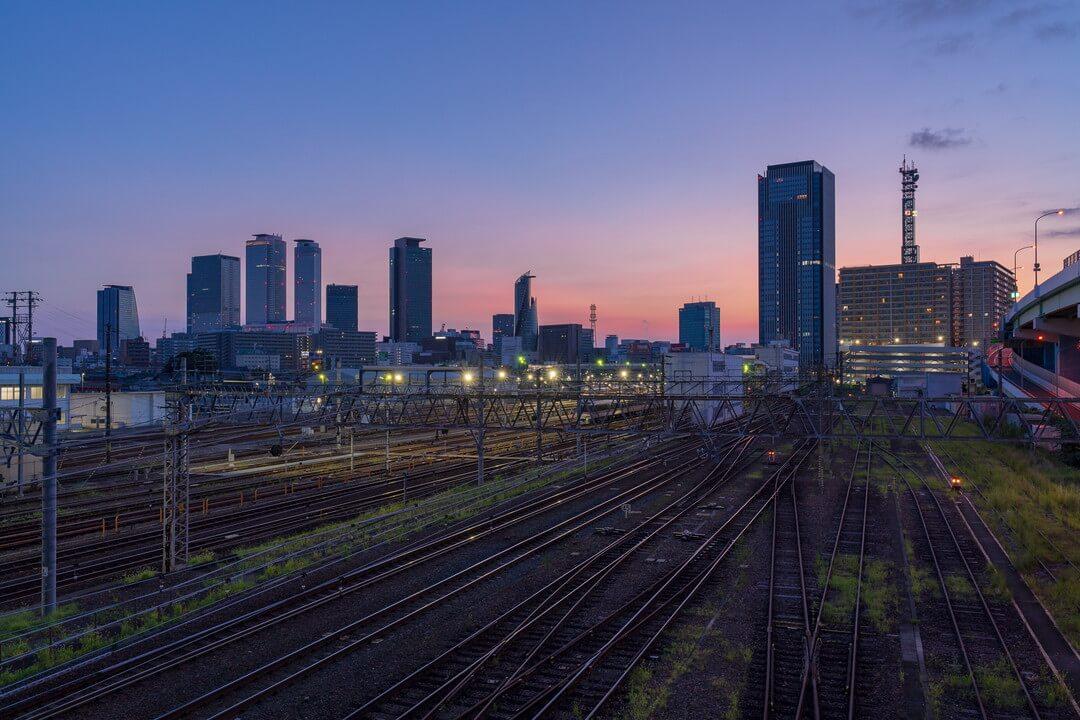 向野橋から撮影した朝焼けの写真