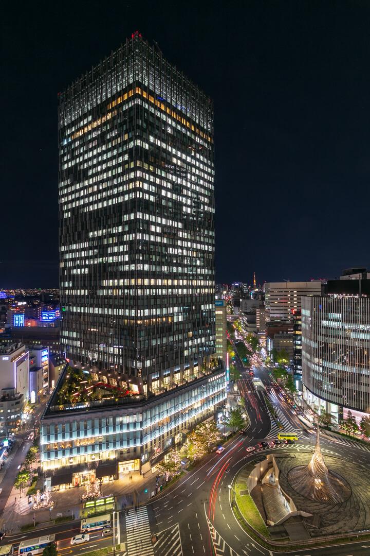 スカイストリートから撮影した大名古屋ビルディングの写真