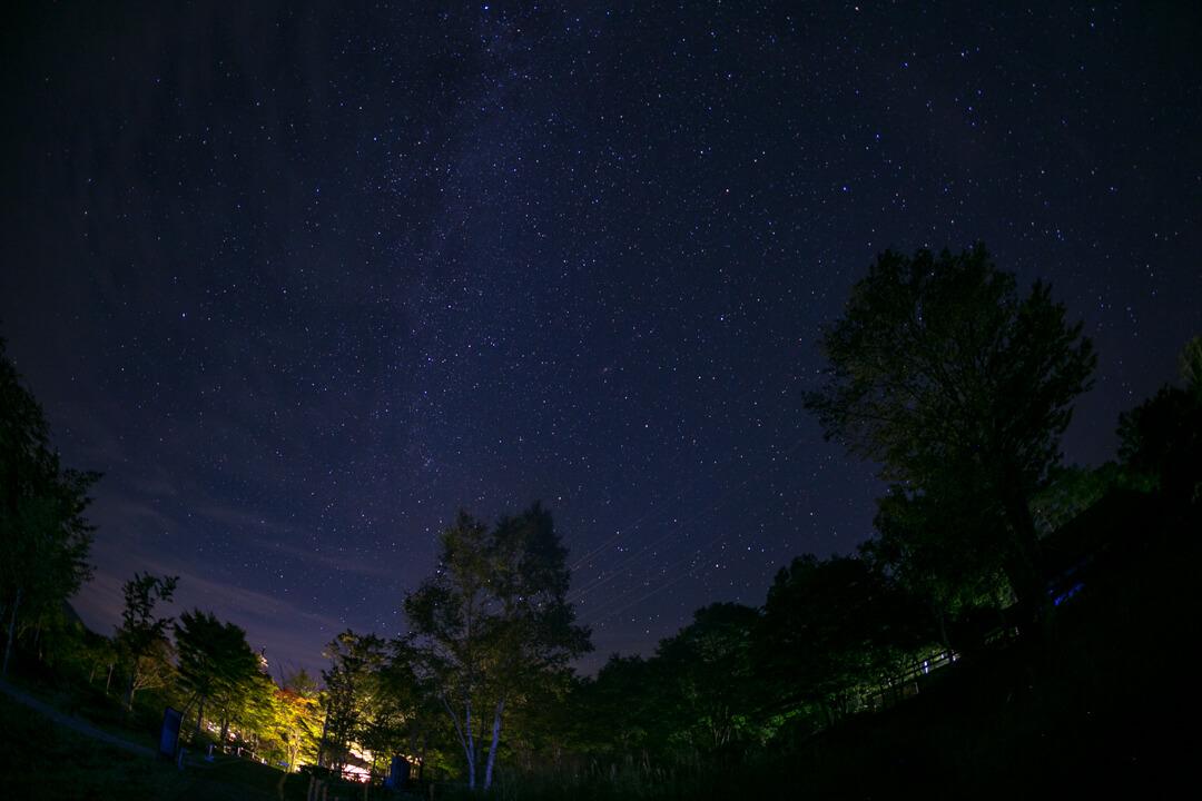 浪合パークから撮影した天の川の写真