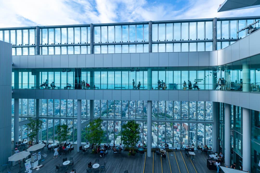 あべのハルカス/ハルカス300の屋外広場「天空庭園」の写真