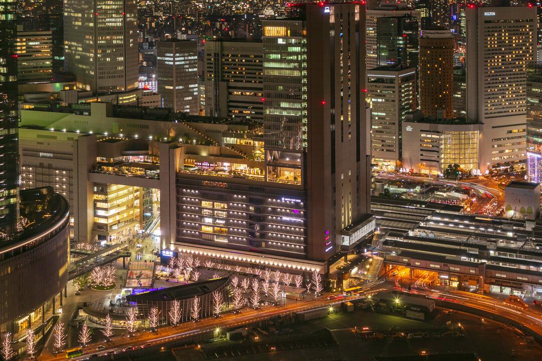 梅田スカイビルの夜景(南側)