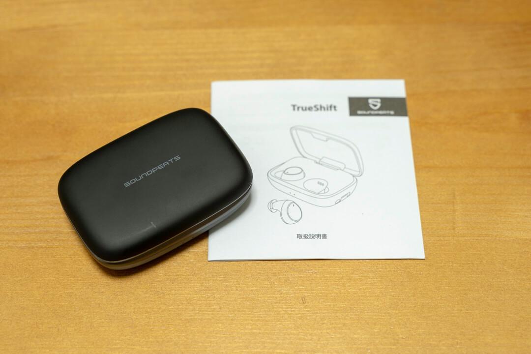 SoundPEATS TrueShiftと説明書の写真