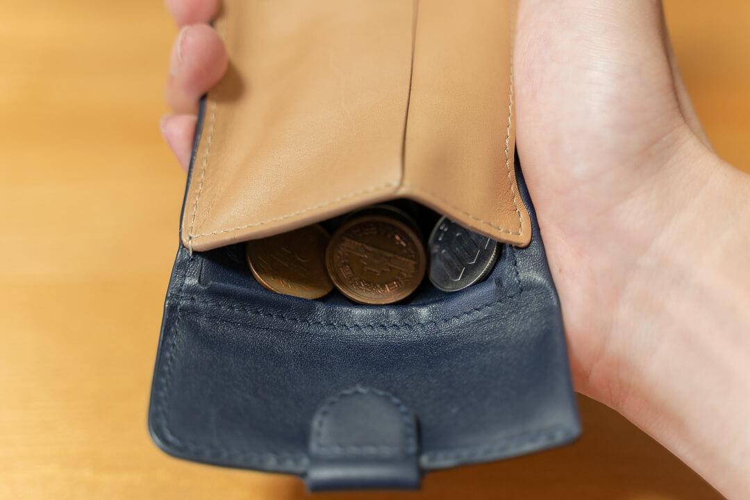 Bellroy(ベルロイ)コインフォールドの小銭入れにある返し