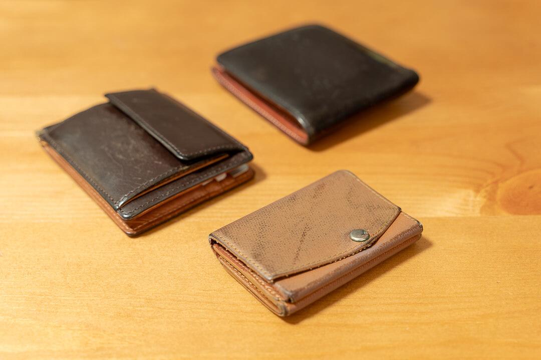 今まで使ってきたコンパクトな財布たち