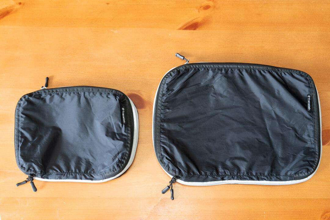 Travelab(トラべラブ)圧縮バッグを2つ並べた写真