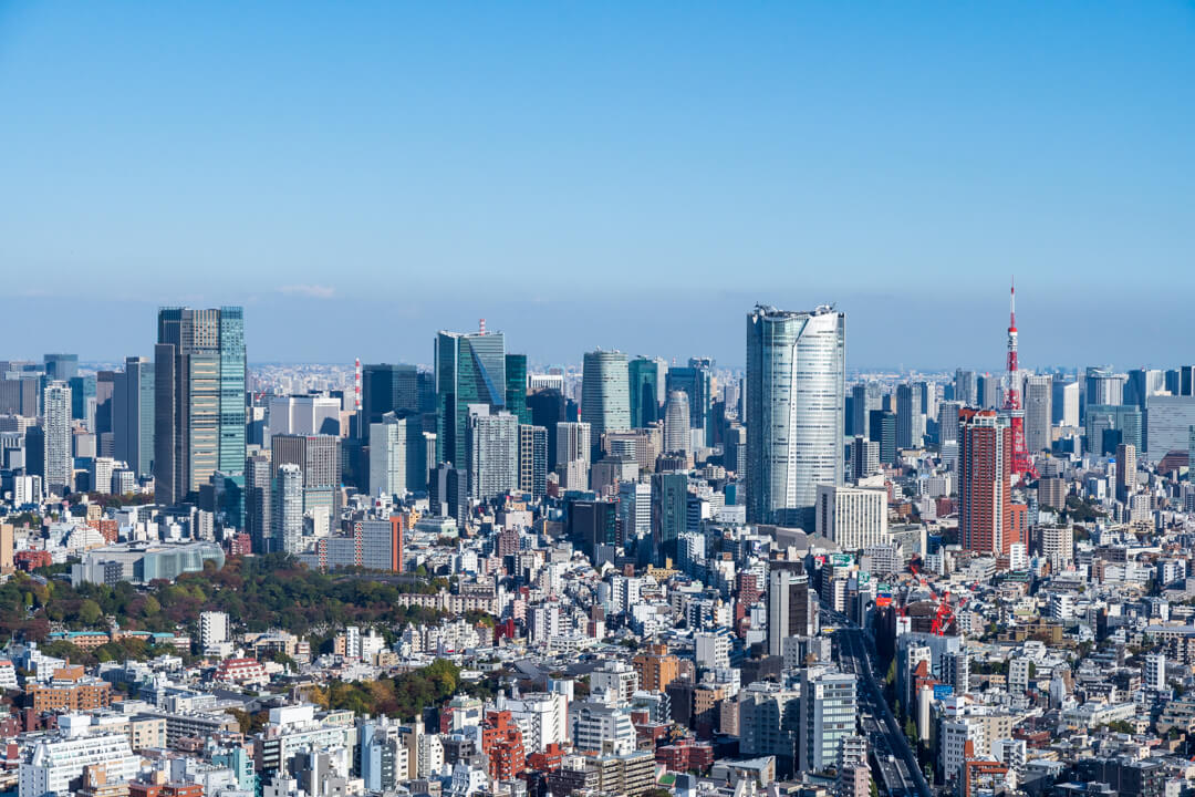渋谷スクランブルスクエア展望台・渋谷スカイからの景色・東側