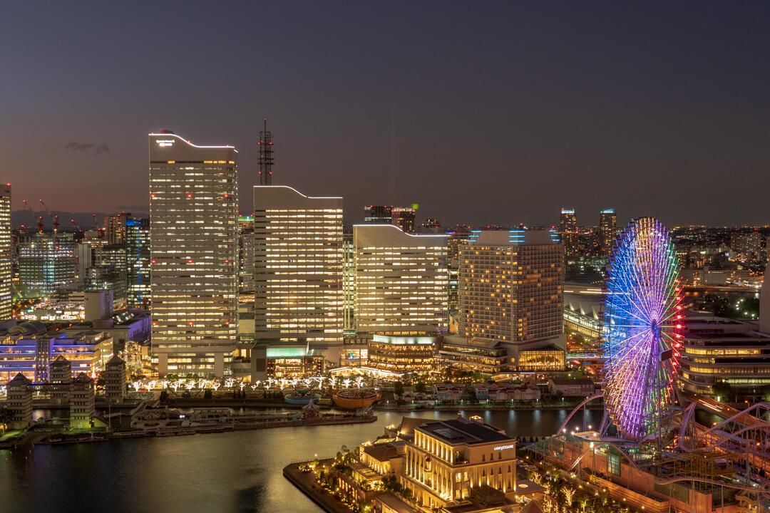 アパホテル横浜ベイタワーの夜景