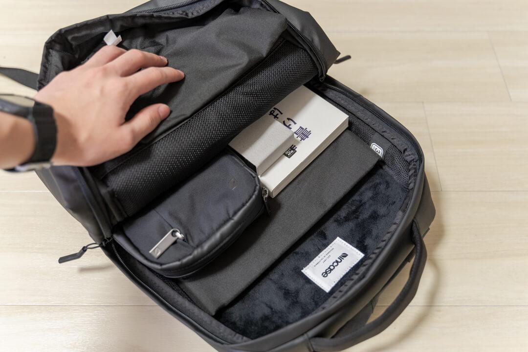 Incase city compact backpackのメイン収納スペース