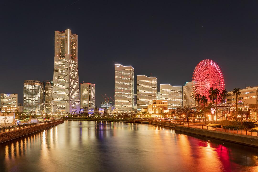 横浜観光で撮影した夜景
