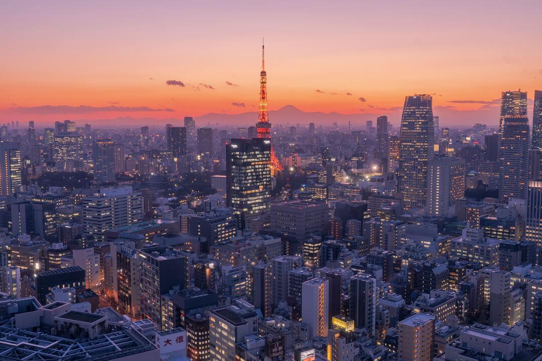 パークホテル東京から眺める夕景