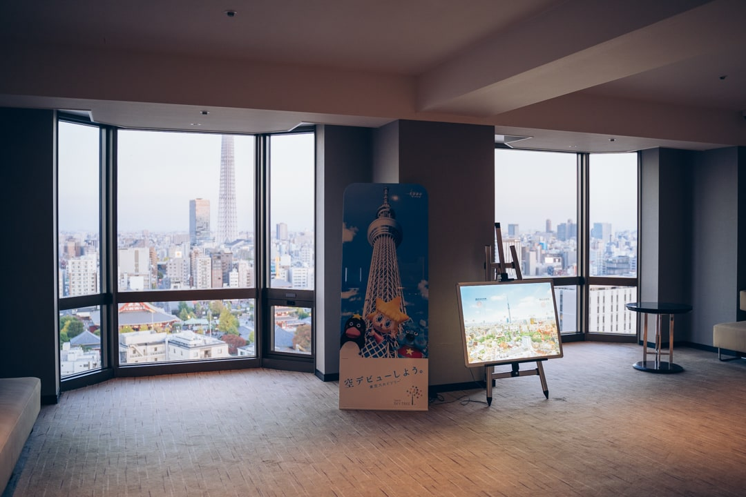 浅草ビューホテル20階にある宿泊客専用の展望室