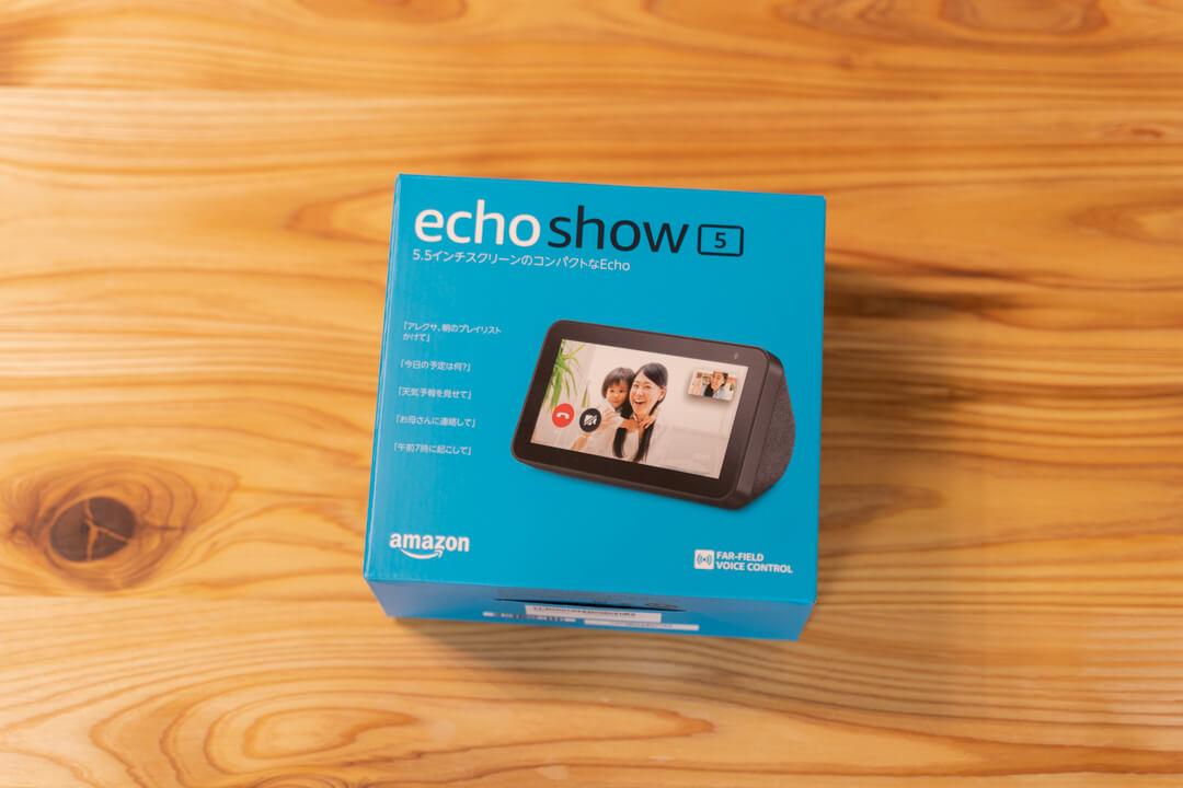 Amazon Echo Show 5の商品パッケージ