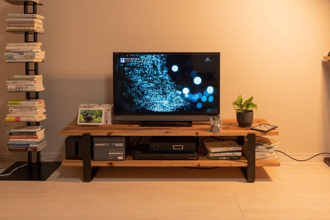 自作したテレビ台