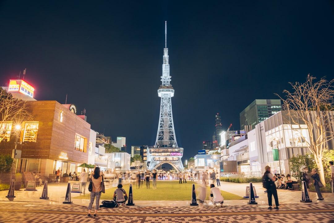 久屋大通パークと名古屋テレビ塔