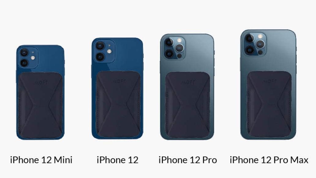 moft magsafeをiPhone12シリーズにつけた様子比較