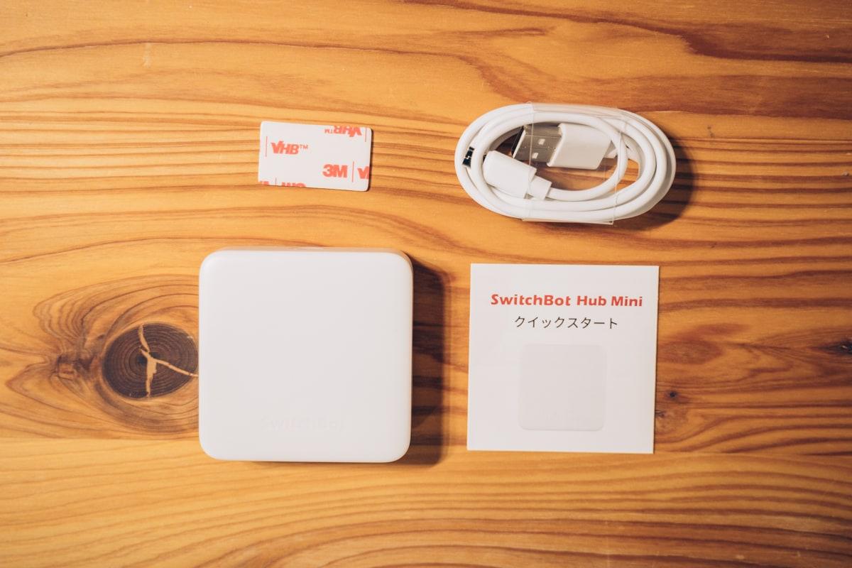 Switchbot hub miniの付属品一覧
