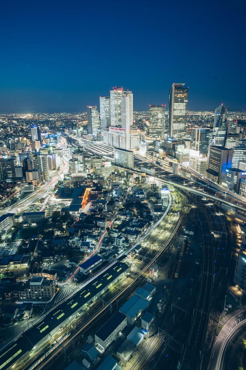 名古屋プリンスホテルスカイタワーから撮影した北側の夜景