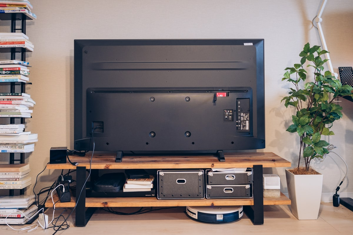 山崎実業 テレビ裏収納ラックの取り付け方法