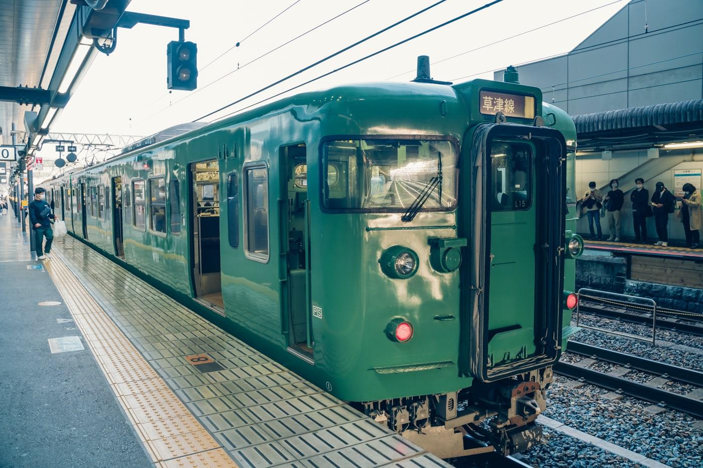 JR京都駅で撮った列車の写真