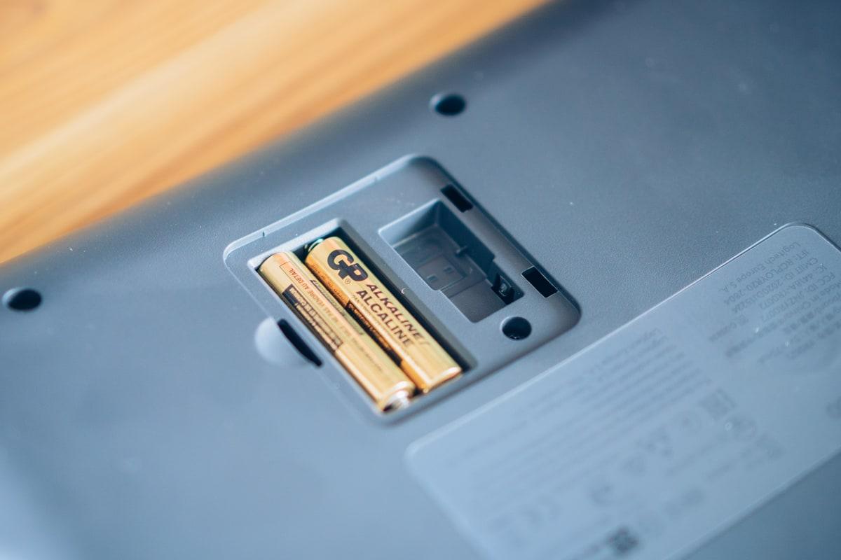 ERGO K860はバッテリー交換式