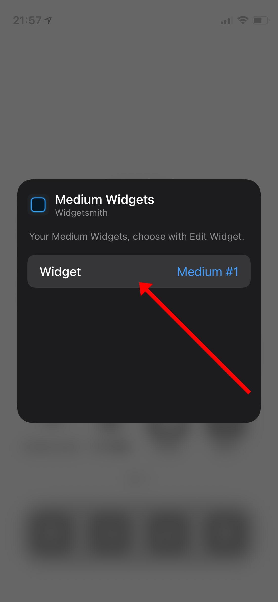 Widgetsmithの設定方法