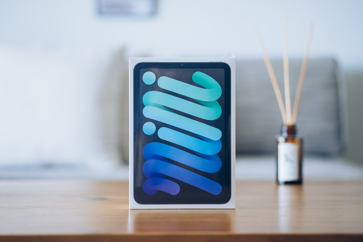 iPad mini(第6世代)の商品パッケージ