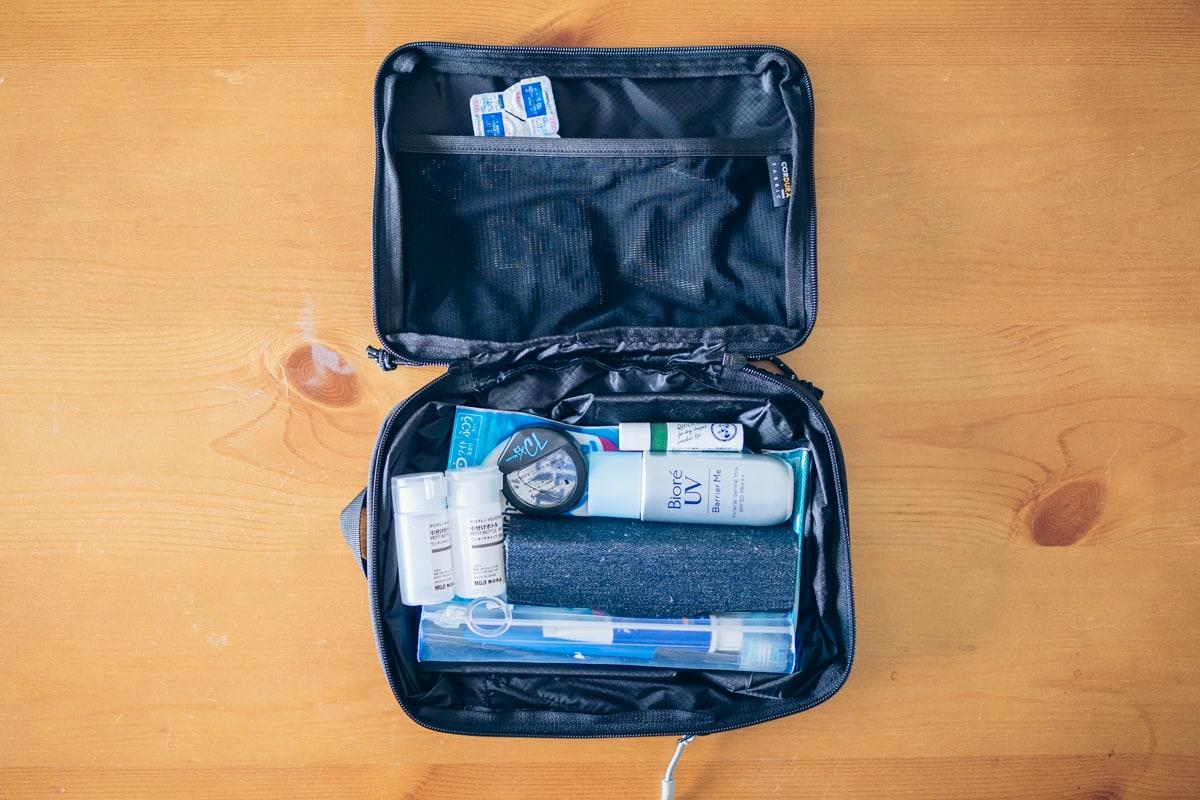 PackBag Sに収納するアイテム一覧