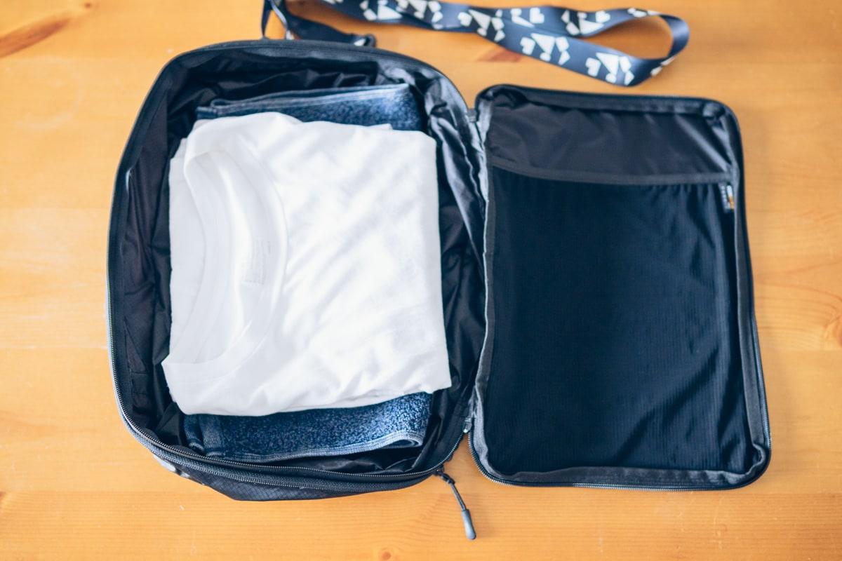 PackBagにトレーニング道具一式を収納